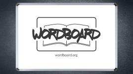 wordboard logo on whiteboard